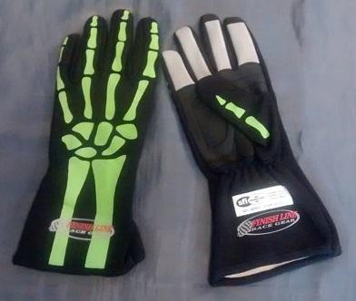 Skeleton Nomex Racing Gloves Driven Race Geardriven Race